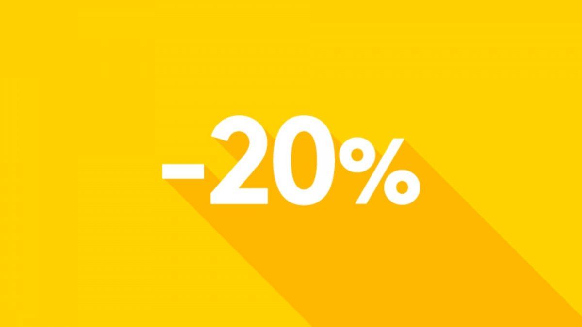 Shopping sempre con il 20% di sconto? Ti basta essere un utente di Wipi!